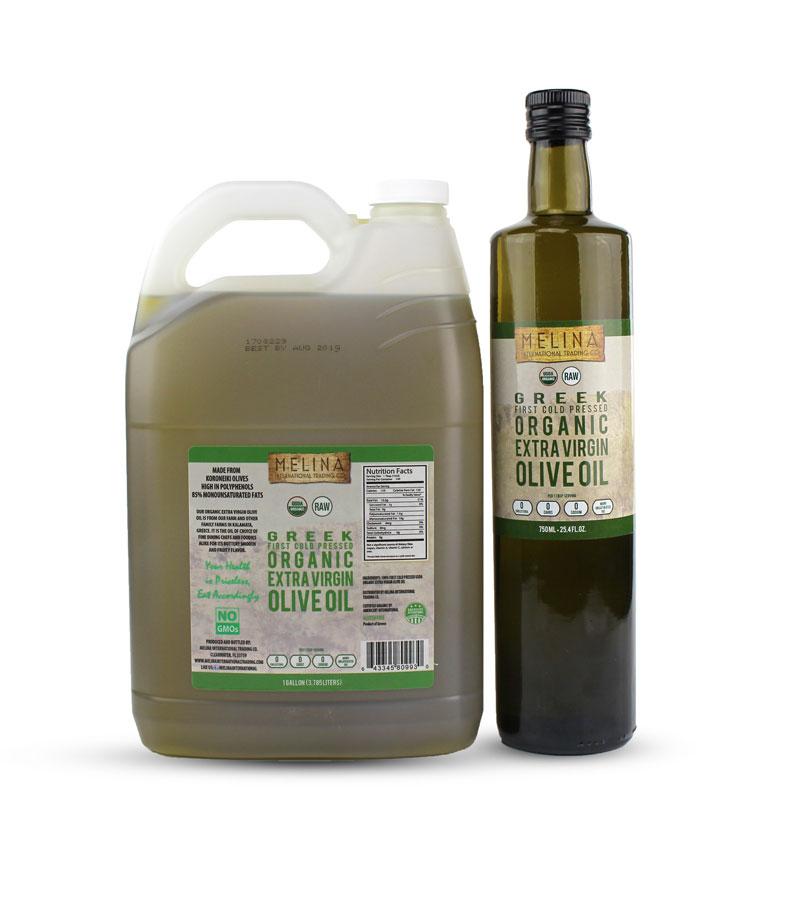 Melina Organic Extra Virgin Olive Oil sizes